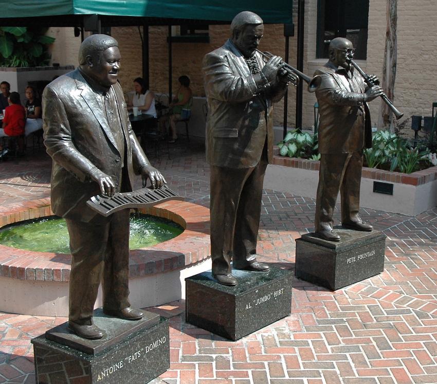 New Orleans Musical Legends Park on Bourbon St
